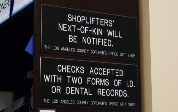 Weirdest Halloween Attraction: The LA County Coroner's Office Gift ...