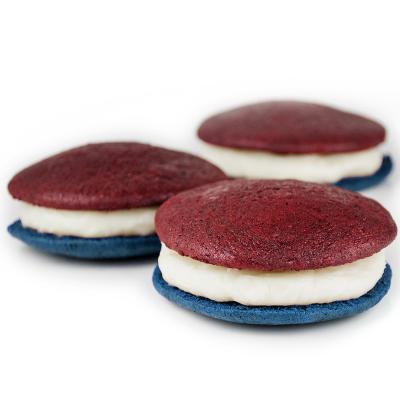 Red White and Blue Velvet Whoopie Pie Half-Dozen