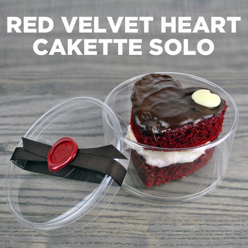 Red Velvet Heart Cakette Solo